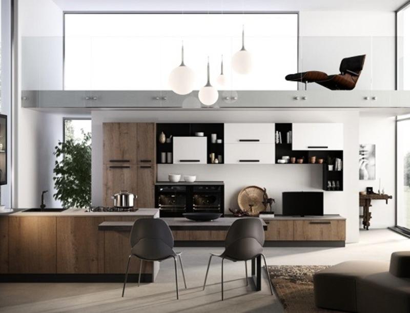 Soggiorno e cucina a vista: i mobili giusti