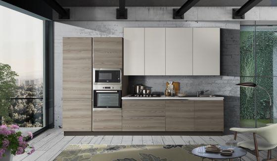 Cucine Componibili Con Lavastoviglie.Cucine Con Composizioni Bloccate Casa Tua Arredamento Italiano